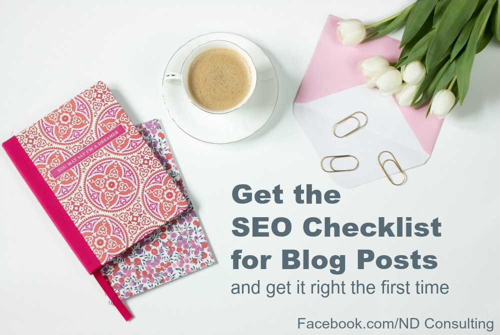 Get this free SEO Checklist for blog posts to learn the basics and get on the first page organically!