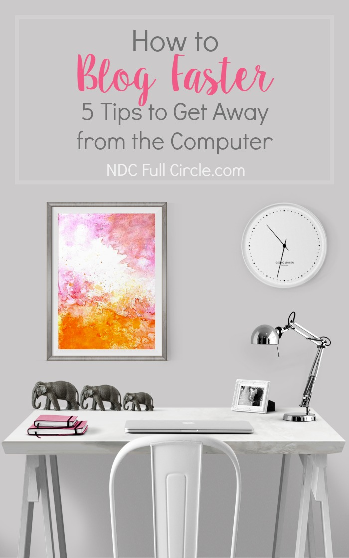 If blogging is keeping you up at night, try to work through these 5 tips how to blog faster. Your family, sanity, and creativity are too important not to try them!