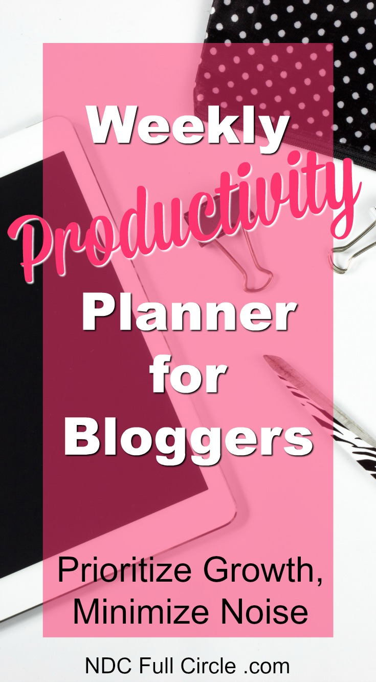 With so many tasks to complete weekly in blogging, we could all use a little focus for building our business. Use this free productivity planner worksheet for bloggers!