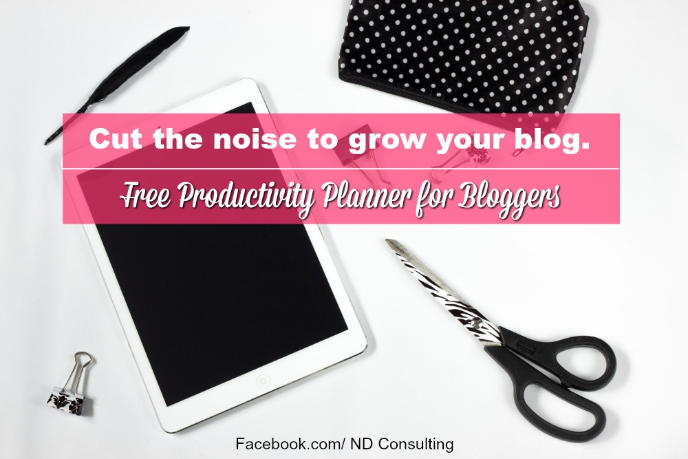 Make money blogging by prioritizing. Get this free productivity planner for bloggers worksheet!