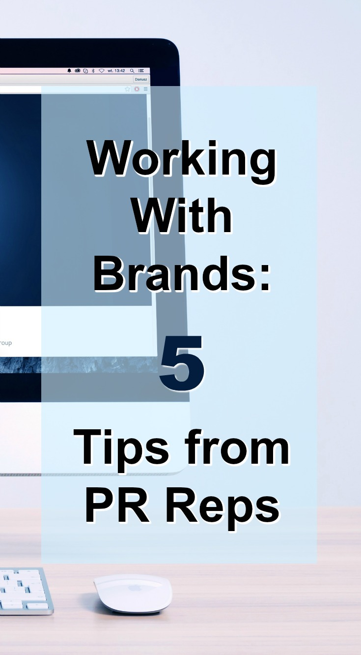 Get 5 tips for working with brands directly from PR reps!