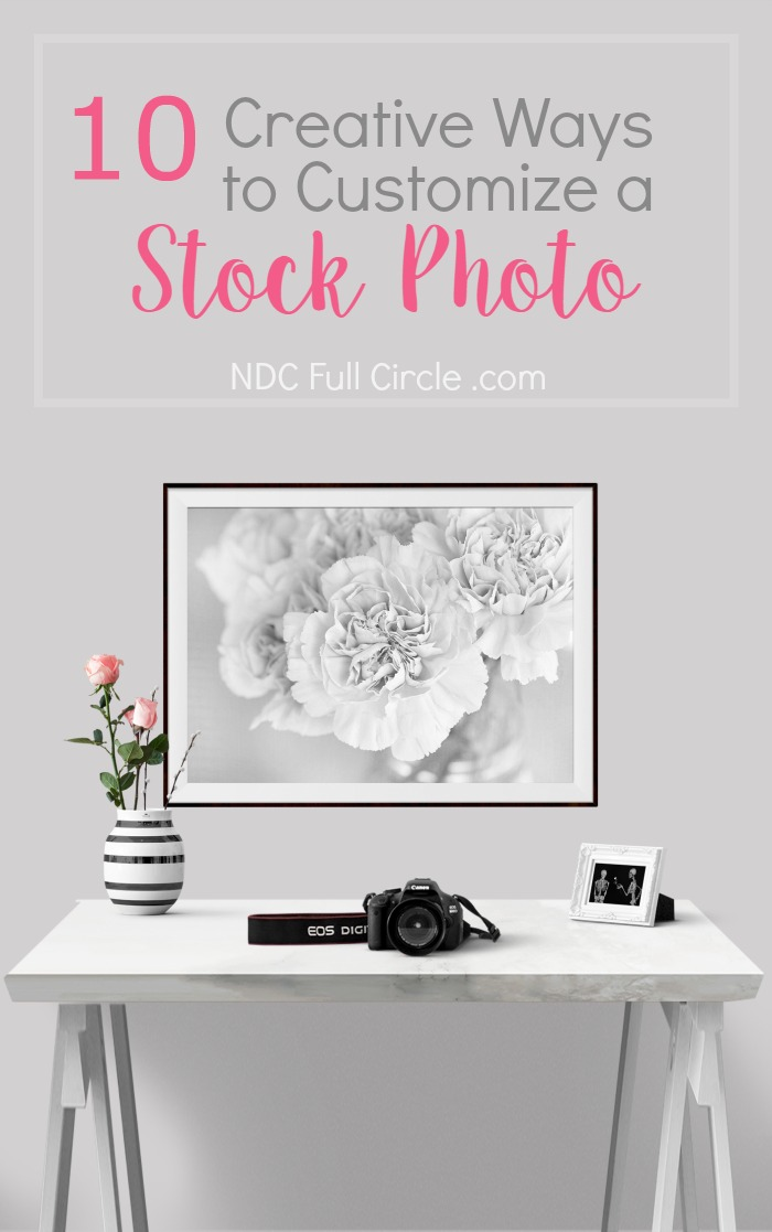 Here are 10 ways to customize ANY stock photo. You'll save money and increase your blogging productivity!