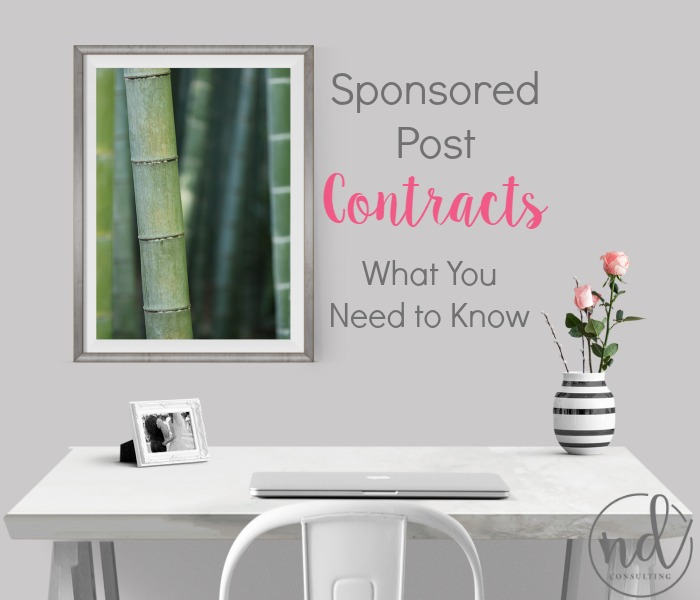 Sponsored Post Contracts - how to read through them with an eye for business to protect you and your brand!