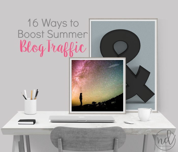 Check out the 16 ways to increase summer blog traffic and income!