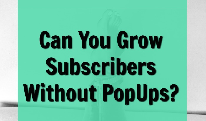 Build your blog's email newsletter on mobile without penalties from Google's mobile popup rule.
