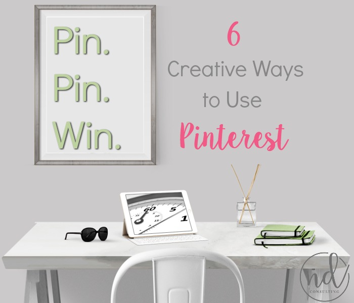 Use these 6 Creative Ways to Use Pinterest to grow your blog's traffic, income, and engagement!
