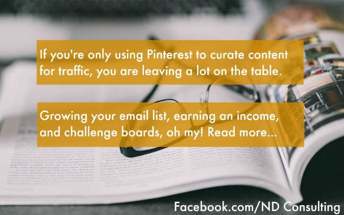 Grow your email newsletter list with Pinterest (and other creative ways to use Pinterest)!