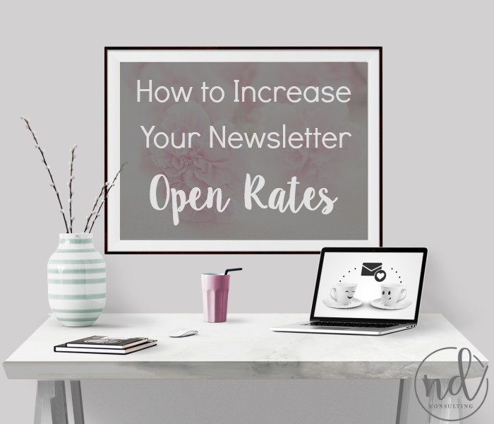A few tips to increase email newsletter open rates