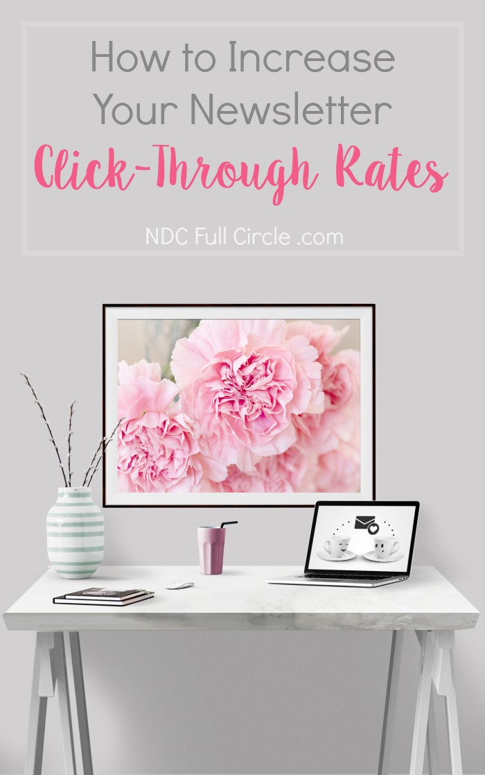 Learn how to increase click through rates for your blog's email newsletter!