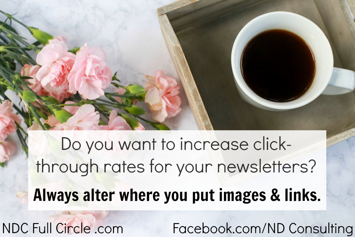 Alter your images and links to increase click through rates from blog email newsletters