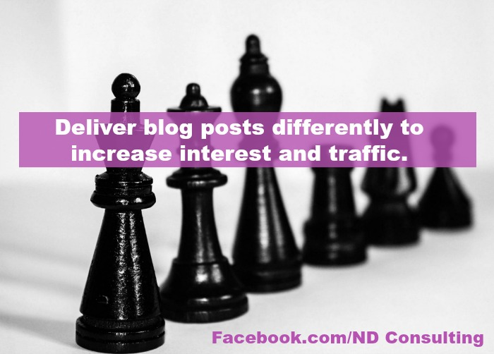 Use one or more of these creative ways to promote blog posts to increase traffic today!