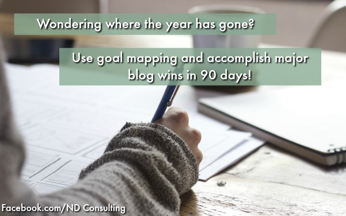 Goal mapping can help you accomplish your biggest blogging goals in 90 days!