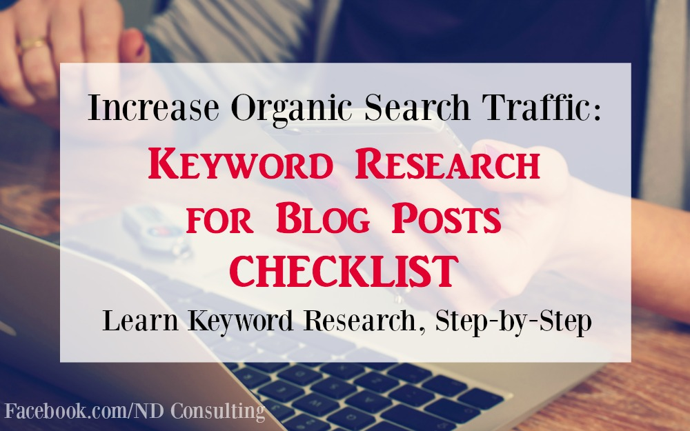 Use this checklist for SEO keyword research for beginners!