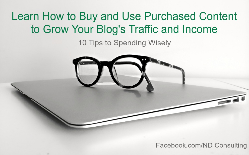 Learn how to use purchased content to grow a blog and your blogging income.