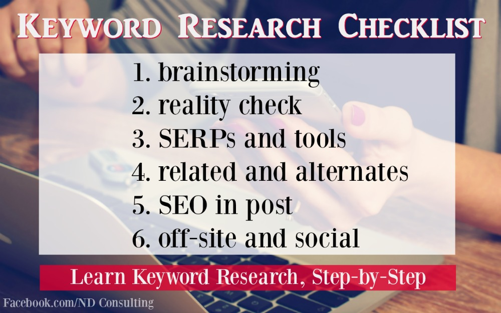 Research Keywords for Blog Posts the Easy Way - Free Checklist!