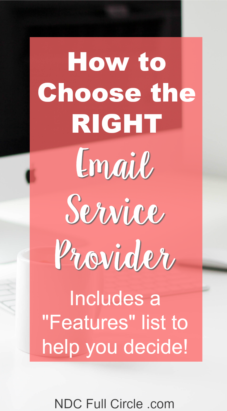 Learn how to choose an email service provider who is right for YOUR blog!