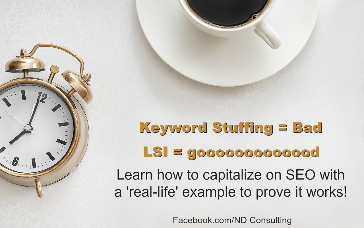 Keyword stuffing is bad and can get you penalized. Learn latent semantic indexing for bloggers and increase your search traffic.