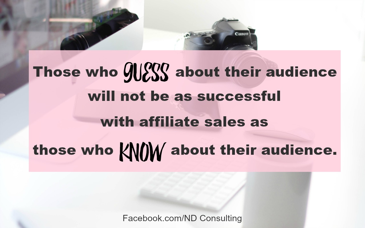 Success in affiliate marketing comes from knowing your audience.