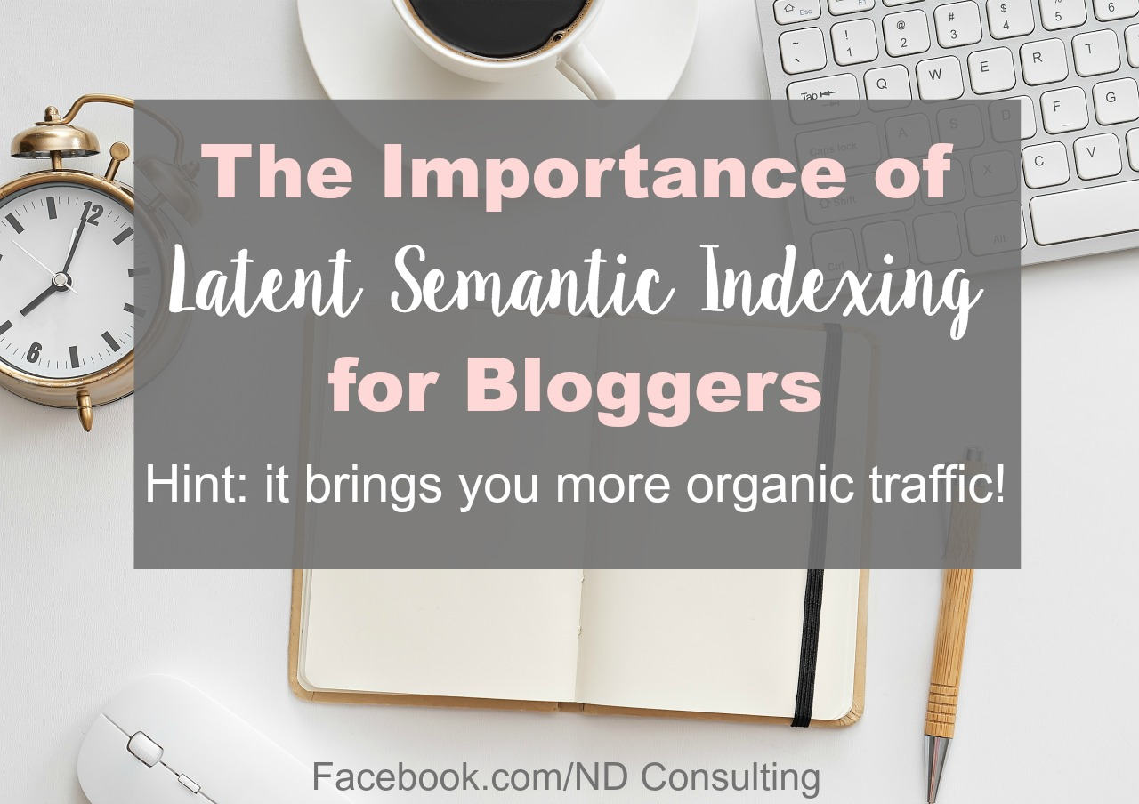 Knowing about latent semantic indexing and using relevant alternate keywords in your blog will increase search traffic.
