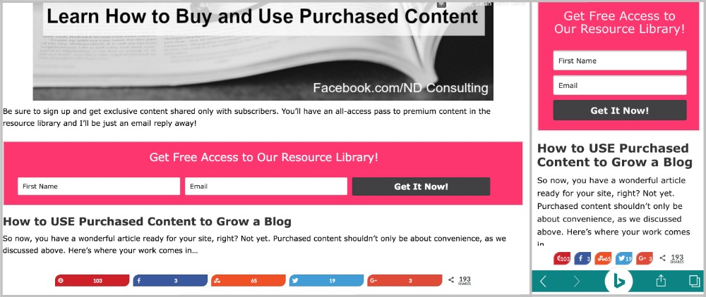 To keep your blog's newsletter list growing with new subscribers, use inline or embedded subscriber forms.
