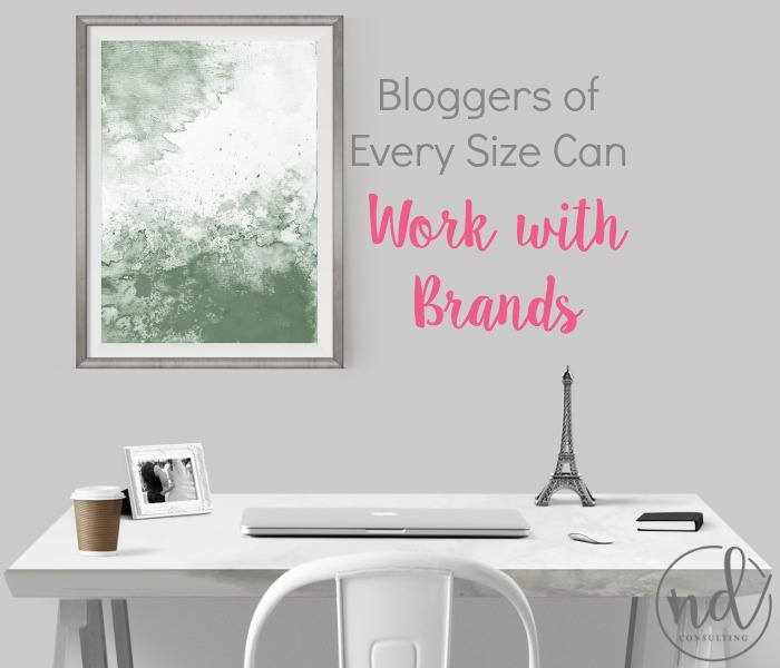 Any sized blogger can work with brands directly