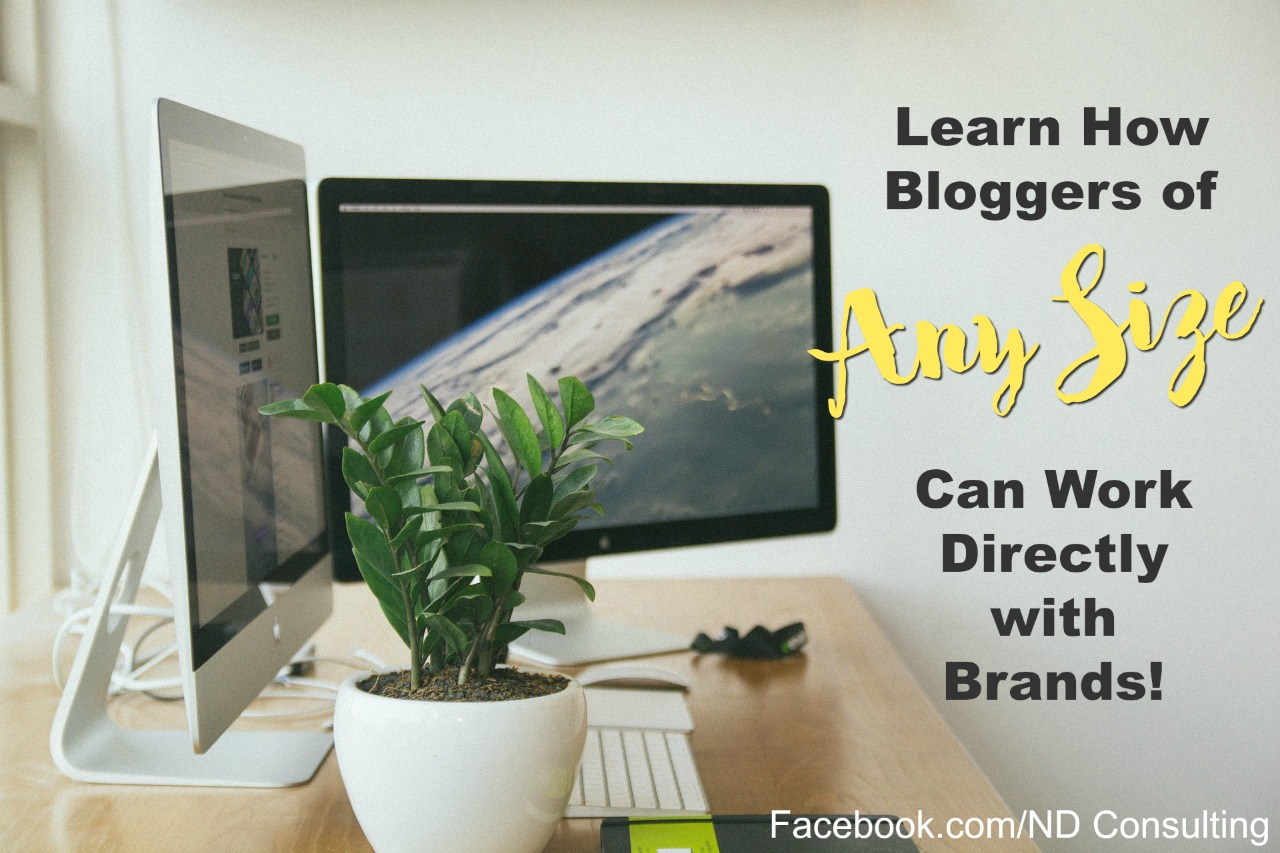 Bloggers can work with brands even with a small following!