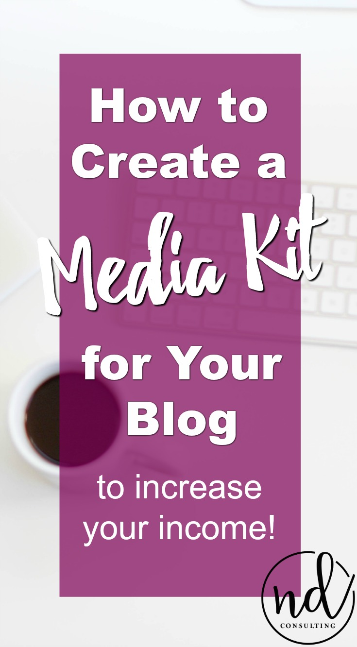 Learn how to create a blog media kit to increase income and save you time!