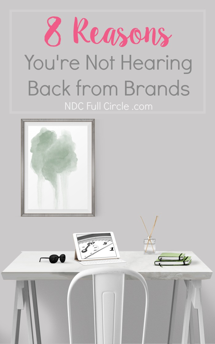If you're not hearing back from brands, troubleshoot your process and pitches with these 8 tips!
