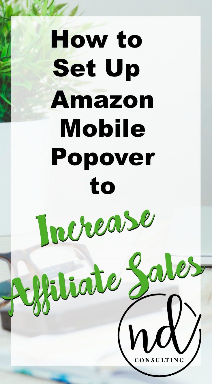 This 5-minute tutorial will have you earning more affiliate income with the Amazon Mobile Popover. There are some considerations BEFORE implementation...
