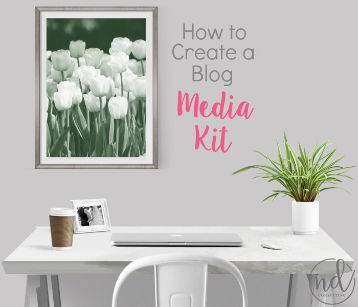 Creating a media kit for your blog will allow you to turn your blog into a business!