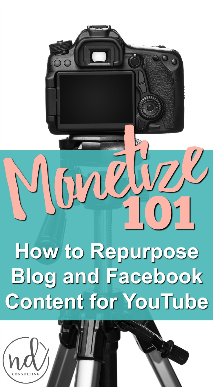 Learn how to properly repurpose blog content to video so you can monetize YouTube!