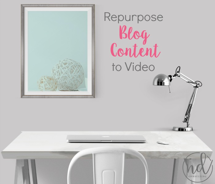 Repurpose Blog Content into Video and Increase Blogging Income Diversify