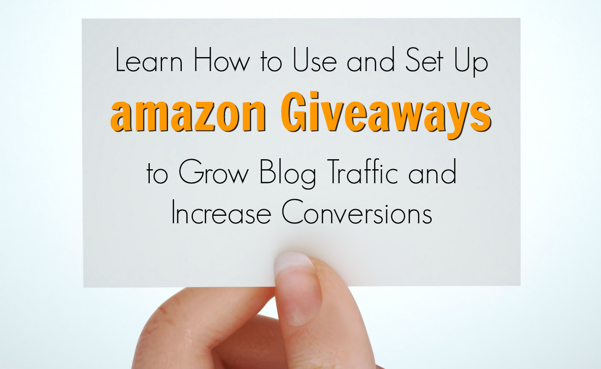 Use amazon Giveaways for blog traffic boosts with minimal investment.
