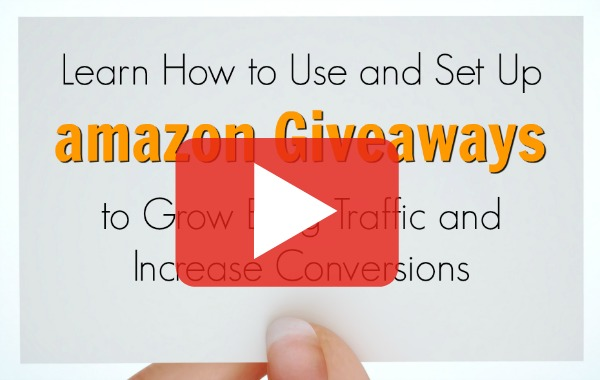 Video tutorial on how to set up amazon giveaways