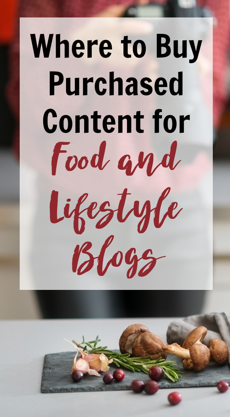 Do you know where to buy QUALITY content for a food or lifestyle blog to help you fill out your editorial calendar, take a break, or build a deep social following? Now you do...