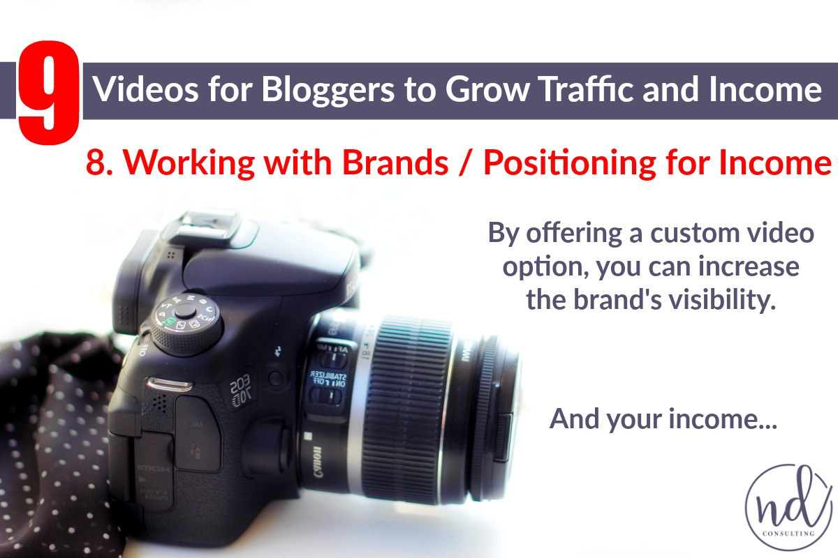 Bloggers can use video to earn more money when working with brands or sponsors.