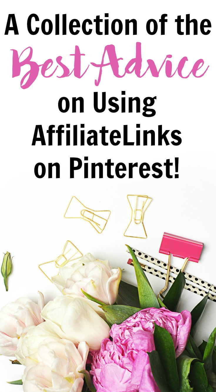 Get the best of the best tips for using affiliate links on Pinterest to earn income for your blog.