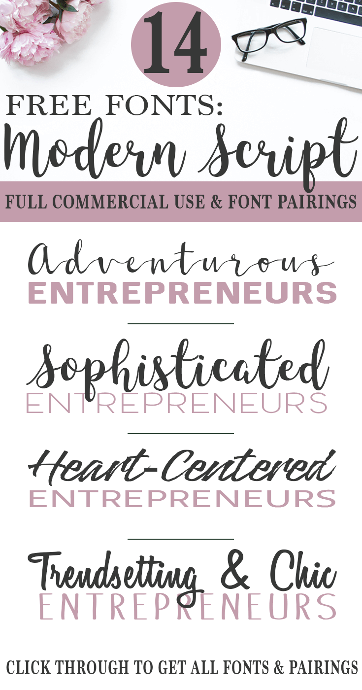 Get these 14 free commercial-use fonts for blogging, products, and social media. There are also font pairings, so no guesswork~