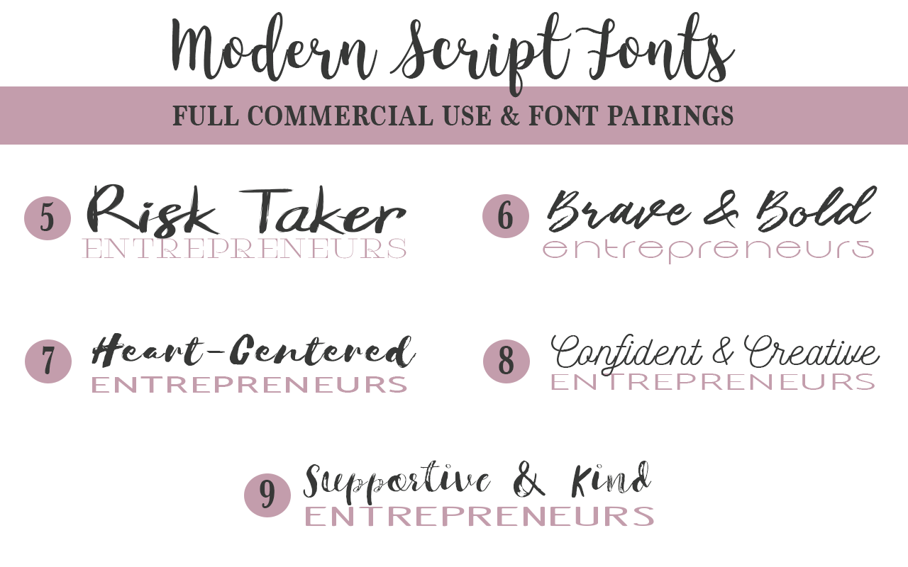 Elegant fonts for entrepreneurs, free to use in any project with no attribution or license.