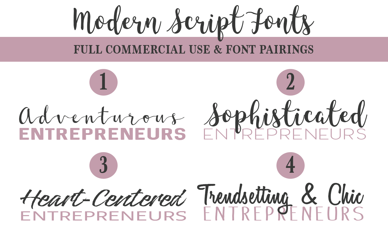 Gorgeous free commercial use script fonts and pairings Modern script font