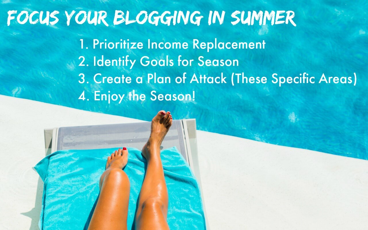 Get a plan for summer blogging - you can make the most of the slowest season in blogging!