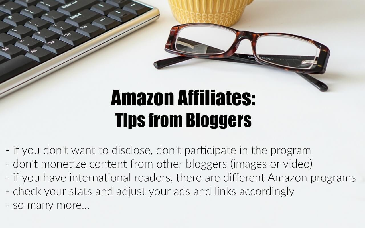 Get tips from earning bloggers when using Amazon affiliate links.