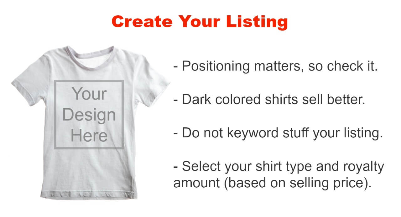 How to Create Amazon Merch listings with keywords, positioning, and shirt selection