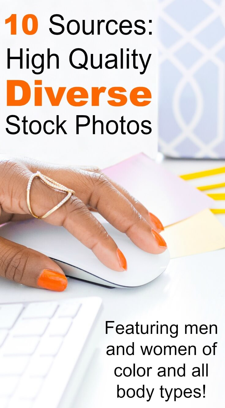 It's hard to find diverse stock photos for women of color, body types, and alternative lifestyles. This list has cultural, ethnic, and body type stock photography!