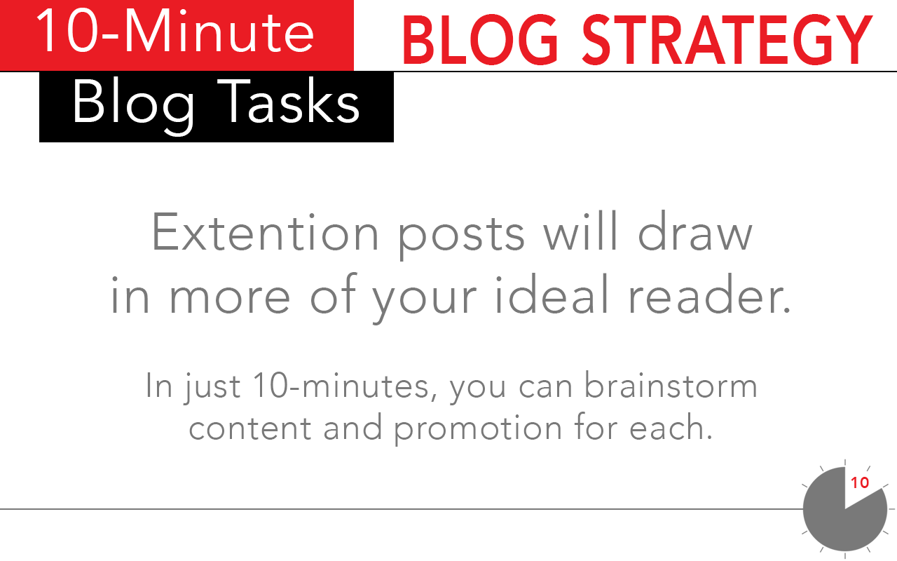 Use the extension techniques as a 10 minute task for blog strategy.