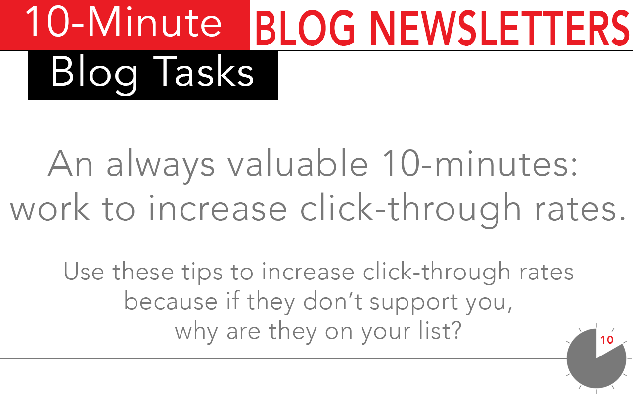 Increased click through rates using these 10-minute tasks for blog newsletters