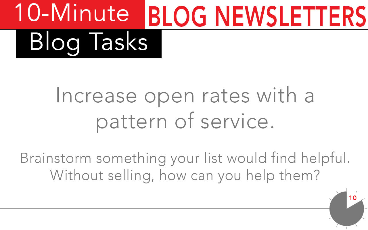 Increased open rates using these 10-minute tasks for blog newsletters