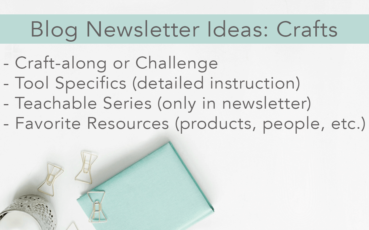 6 Ways to Start a Craft Blog Newsletter or Increase Open Rates