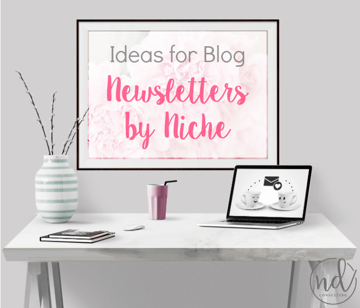 Start a blog newsletter or shake yours up with these creative ideas for blog newsletters by niche.