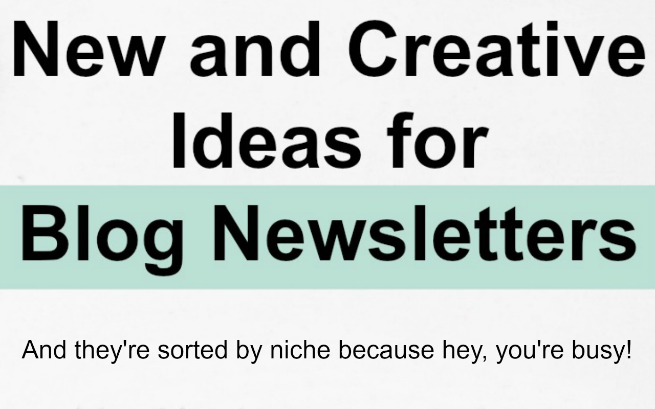 one of the most often heard questions on the free discovery calls i do is what do i send in my newsletter often bloggers who ask this are seeking to go - Newsletter Ideas